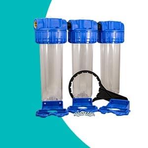 Porte filtre triple téthys complet vide