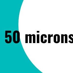 50 microns