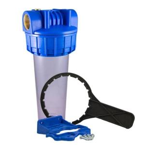 Porte filtre standard 9 pouce 3/4- complet avec insert laiton - filetage 1 pouce - 26x34