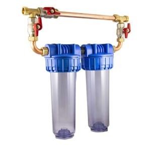 Porte filtre filtre double 9 pouces 3/4 avec kit Bypass