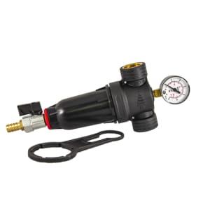 Carter easy small entrée 3/4 - 20x27 80µ avec manomètre - eau chaude