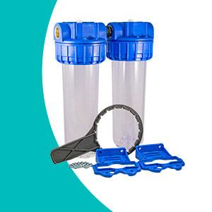 Filtre à eau double Téthys vide