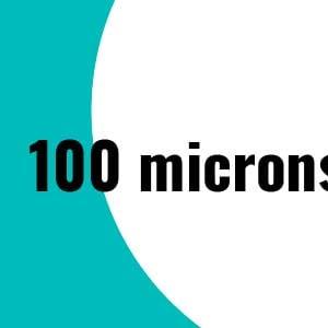 100 microns