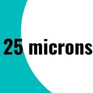 25 microns