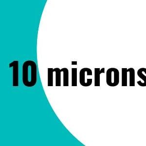 10 microns