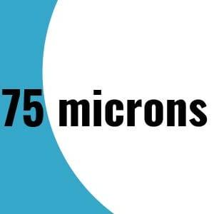 75 microns