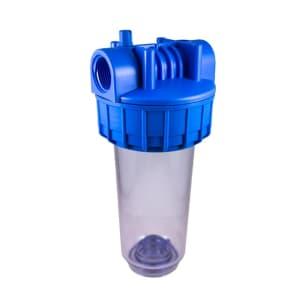 Porte filtre standard 7 pouces transparent sans insert laiton - filetage 1 pouce- 26x34
