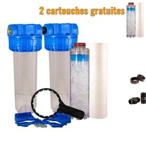 filtre double anti calcaire pas cher
