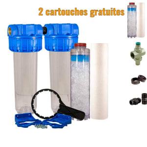 Filtre double anti-calcaire Téthys 10