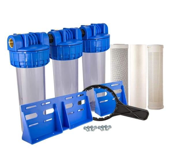 Porte filtre triple 9 pouces 3/4 eau du pluie
