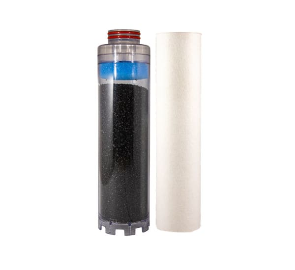 Kit cartouche porte filtre double Téthys goût et odeur