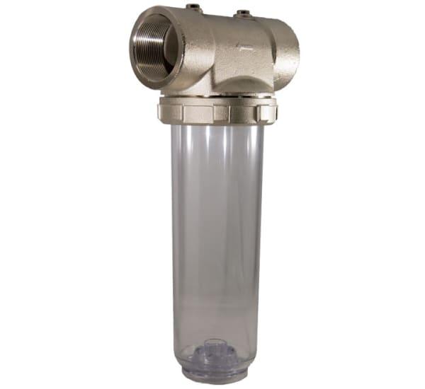 porte filtre laiton cuve transparente 9 pouces 3/4 - 2 pouces