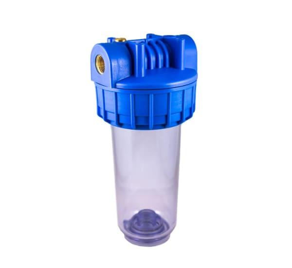 Porte filtre standard 7 pouces transparent avec insert laiton filetage 1/2 pouce – 15x21