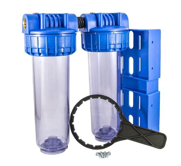 Porte filtre double standard 9 pouces 3/4 vide