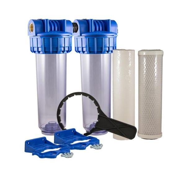Porte filtre double anti goût et odeur 9 pouces 3/4