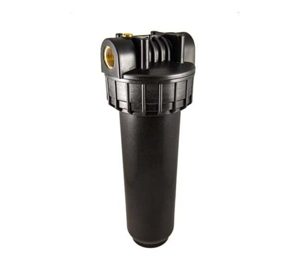 Porte filtre standard noir 9 pouces 3/4 avec insert laiton - filetage 3/4 pouce - 20x27