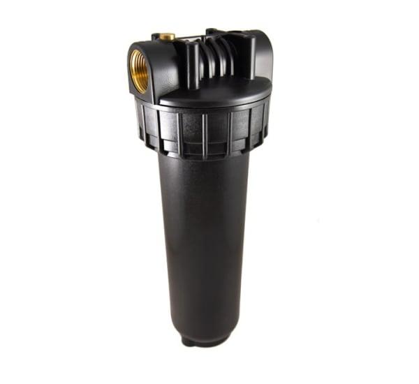 Porte filtre standard noir 9 pouces 3/4 avec insert laiton - filetage 1 pouce 26x34