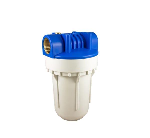 Porte filtre standard 2 pièces 5 pouces avec insert laiton - filetage 1 pouce- 26x34