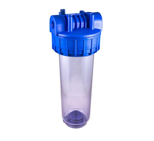 Porte filtre 9 pouces 3/4 sans insert laiton filetage 1/2 pouce – 15x21