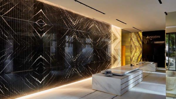 Nature-made design materials shine in Antolini Stoneroom