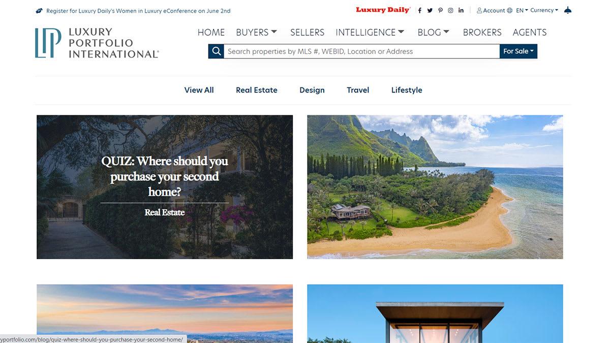 nuovo sito web di portafoglio di lusso