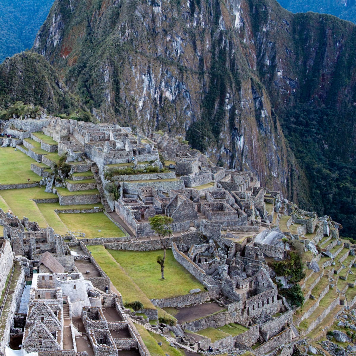 Machu Picchu ruins and Huayna Picchu Mountain