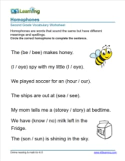 2nd Grade Vocabulary Worksheets by K5 Learning | Learn ...