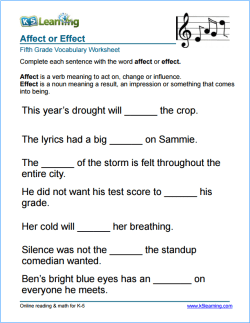 photograph regarding 5th Grade Vocabulary Words and Definitions Printable titled K5 Understanding 5th Quality Vocabulary Worksheets Discover Vocabulary
