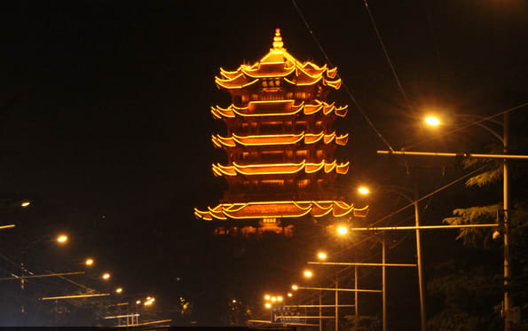 Wuhan's 1,800-year-old Yellow Crane Tower to launch night tours