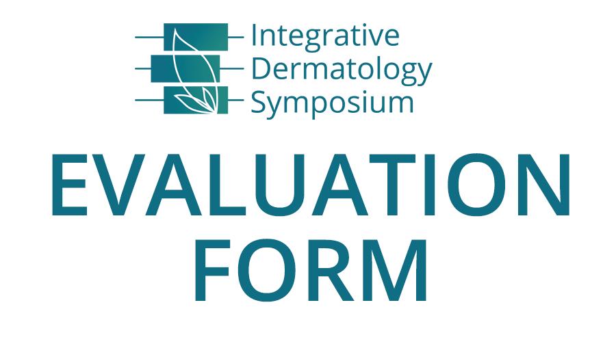 IDS 2018 Evaluation Form