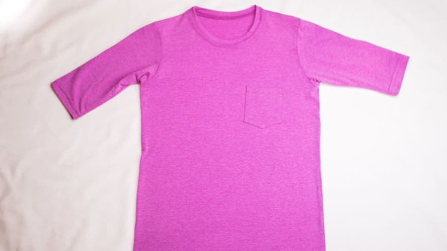 Sun protective purple T-shirt