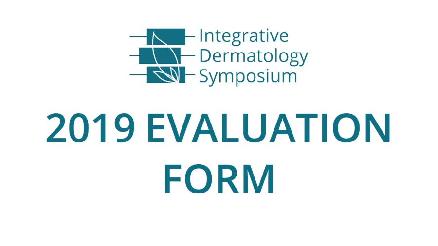 IDS 2019 Evaluation Form