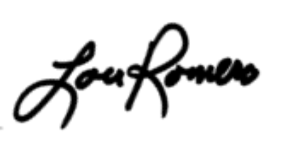 LOU REMERO SIGNATURE