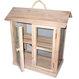 Garde manger en bois forme maison