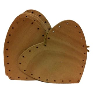 Fond de paniers en contrepalaqué forme coeur