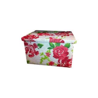Boîte rectangulaire en carton décors fleurs