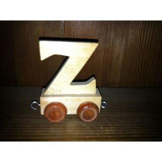 Lettre Z du train, en bois