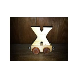 Lettre X du train, en bois