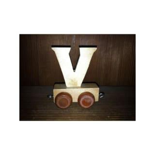 Lettre V du train, en bois