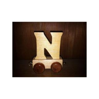 Lettre N du train, en bois
