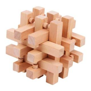 Casse tête en bois géométrique
