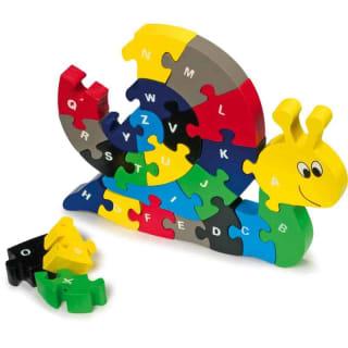 Alphabet puzzle escargot
