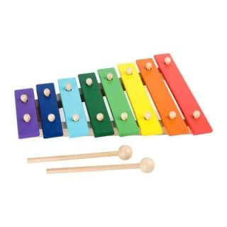 Xylophone en bois multicolore