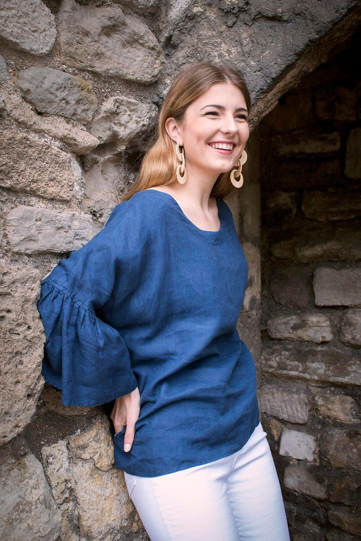 Hannah ready to sew linen blouse kit