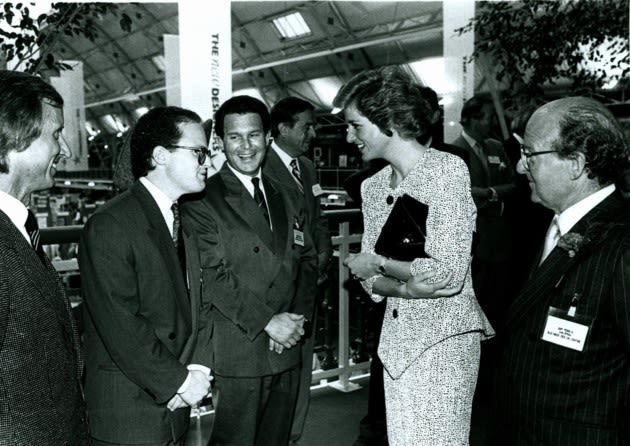 Princess Diana visits the Business Design Centre in Islington in 1988. Picture: Business Design Centre