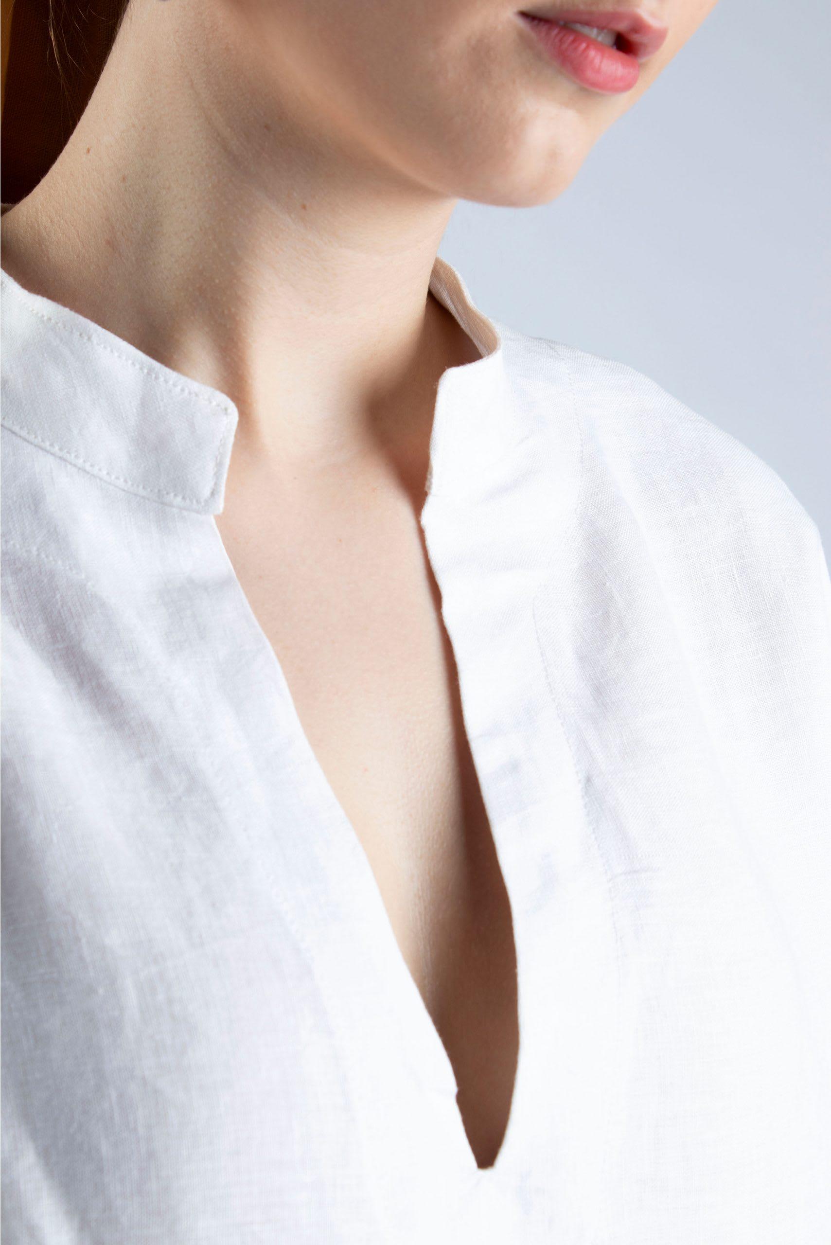 Cutcouturekit Helen linen tunic S-M collar detail