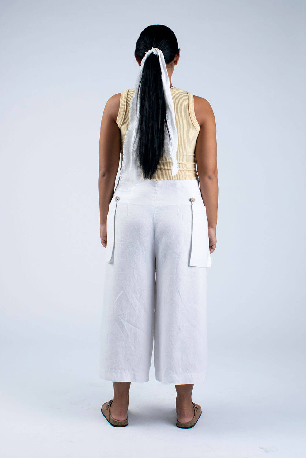 white linen culottes sewing kit