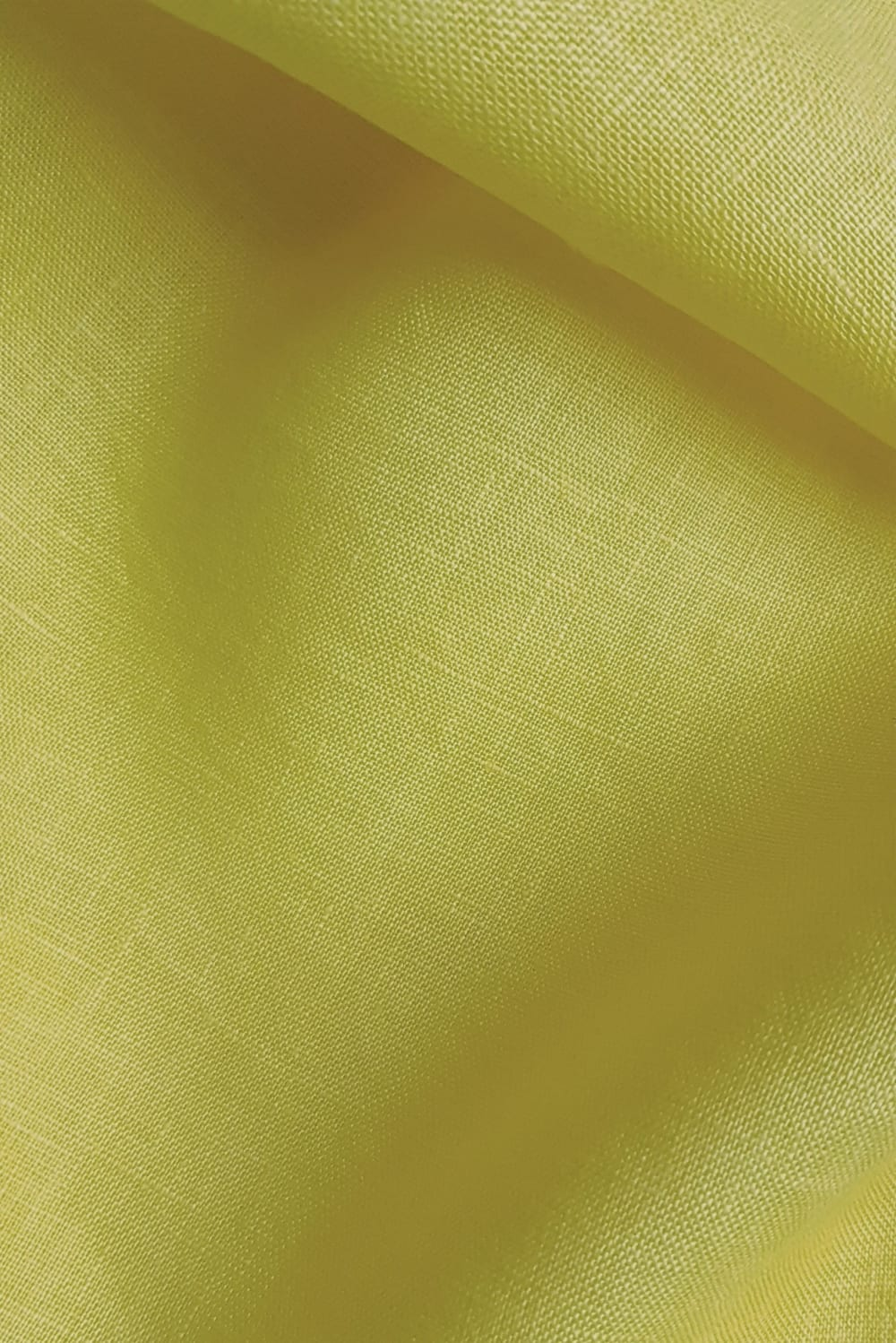 Detail of sunflower yellow hand dyed linen