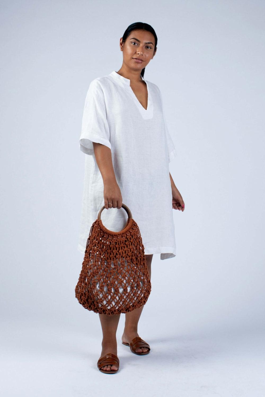white linen tunic Helen