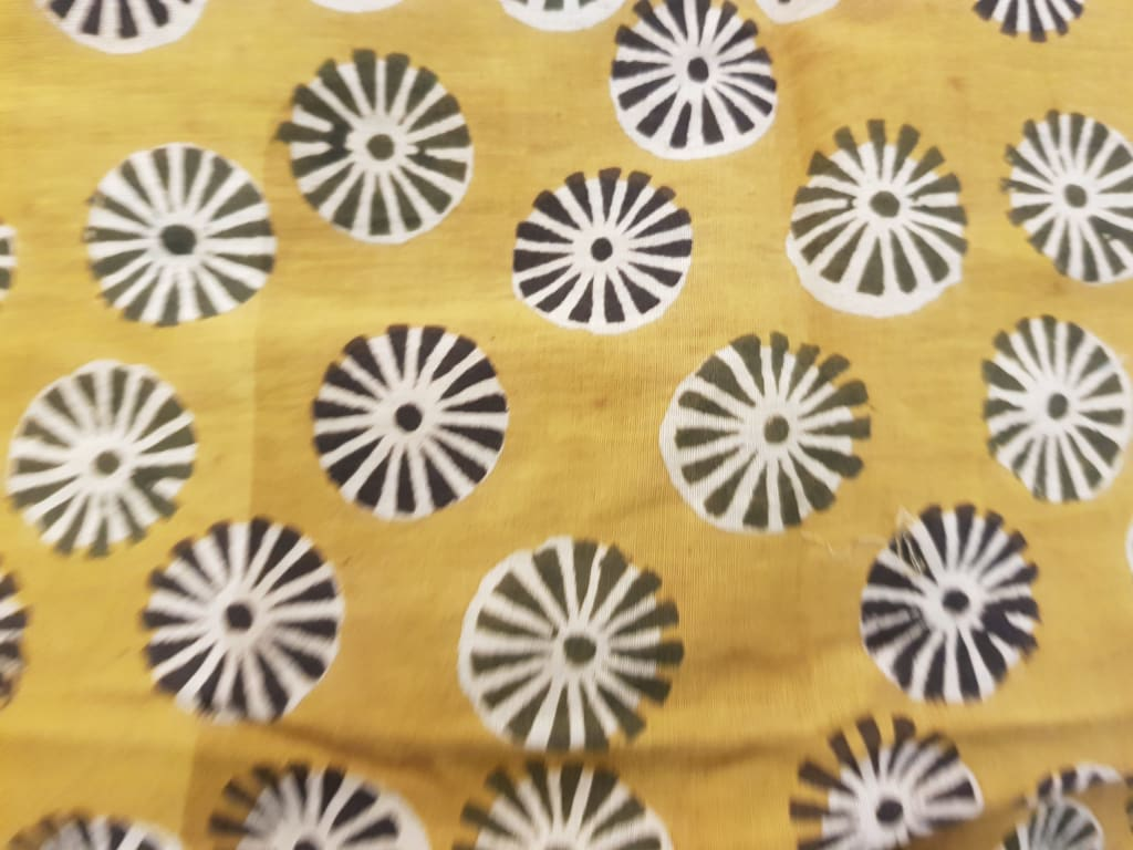 discharge printed cotton